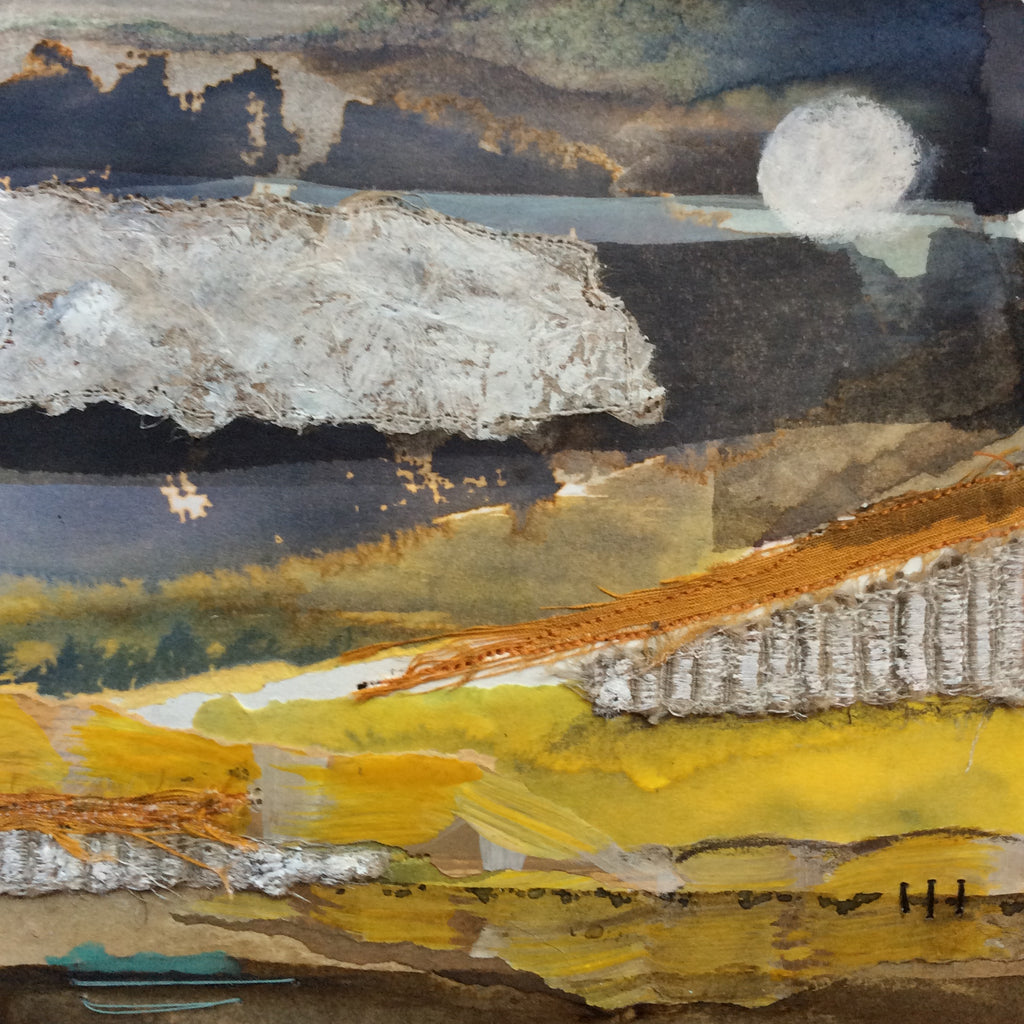 "Mixed Media Art By Louise O'Hara - ""The calm landscape"""