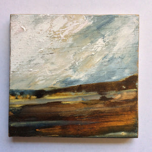 "Mini Mixed Media Art on wood By Louise O'Hara - ""Lakeside"""