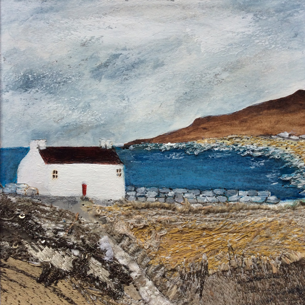 "Mixed Media Art By Louise O'Hara - ""Down by the Shore"""