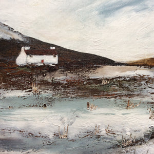 "Mixed Media Art By Louise O'Hara ""A moorland frost"" Archive"