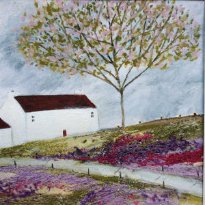 "Mixed Media Art print work by Louise O'Hara ""A rather large cherry blossom"""