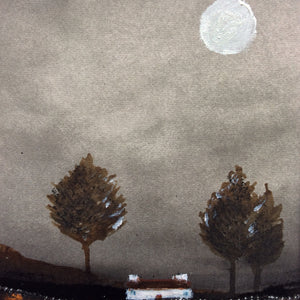 "Mixed Media Art work by Louise O'Hara ""In the shadow of the trees"""