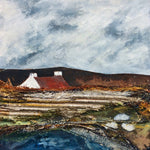 "Mixed Media Art By Louise O'Hara - ""The cottage with the red roof"""