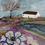 "Mixed Media Art By Louise O'Hara - ""Apple blossom cottage"""
