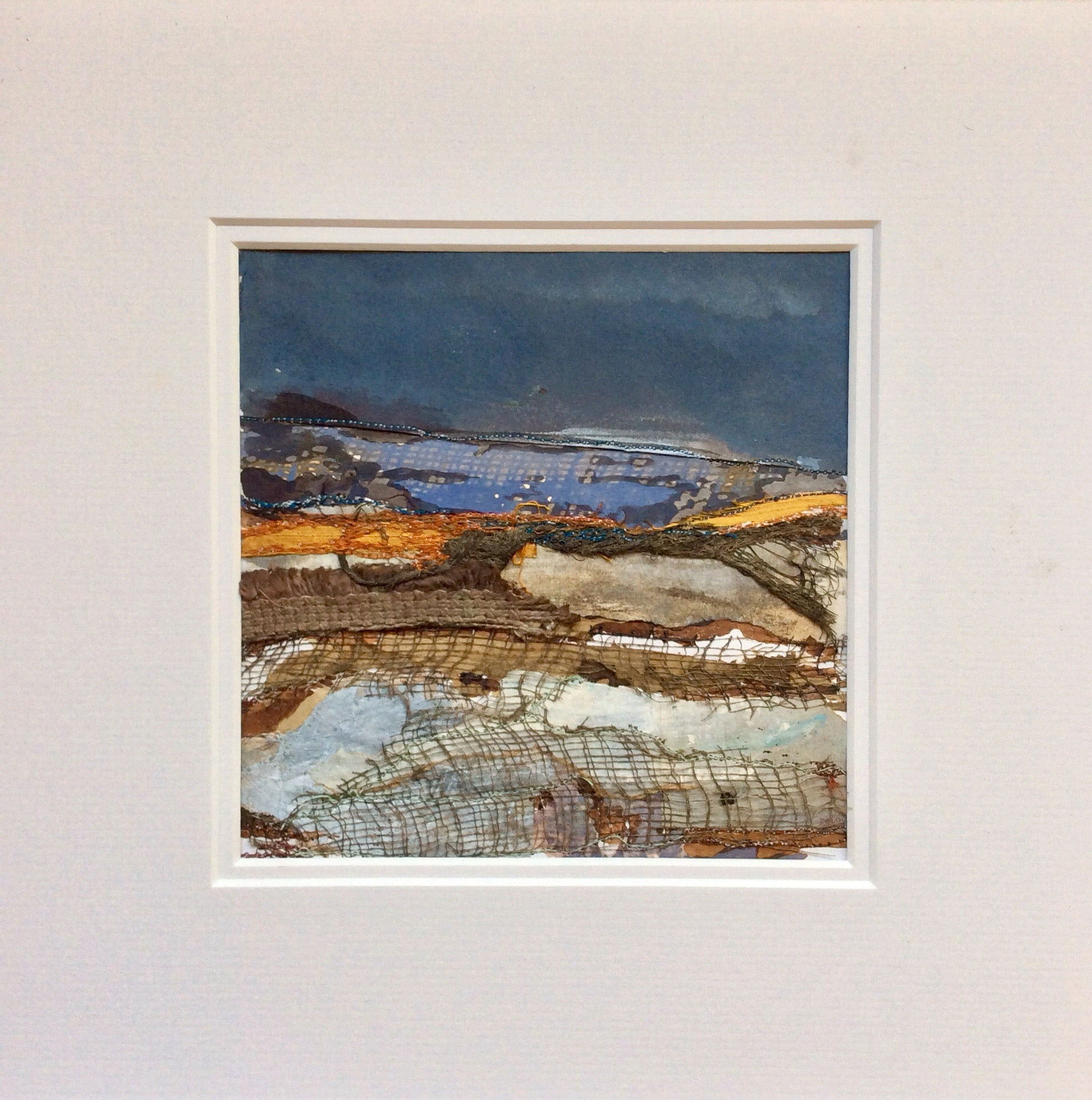 "Mixed Media Art By Louise O'Hara - ""A Scottish landscape"""