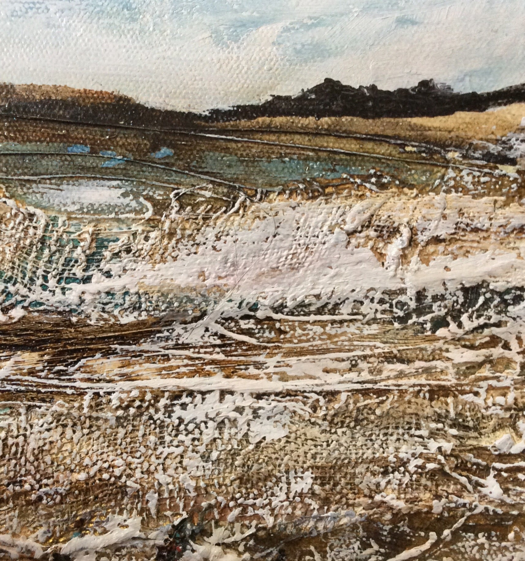 "Archive special...Mixed Media Art By Louise O'Hara - ""A frozen Tarn"""