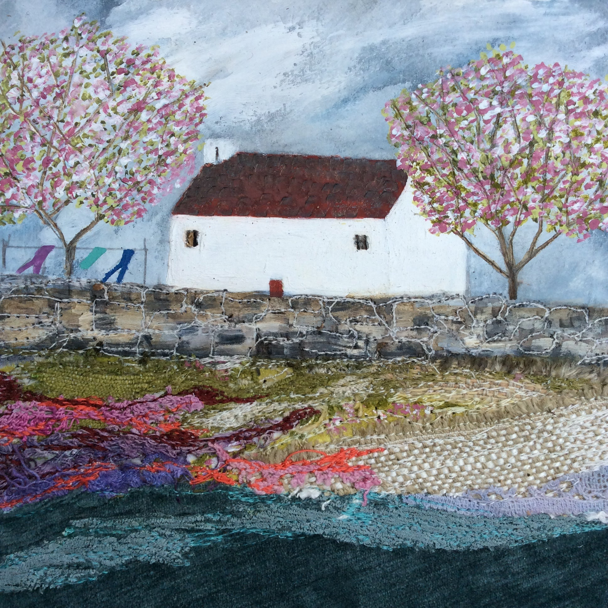 "Mixed Media Art By Louise O'Hara ""Forge Cottage"""