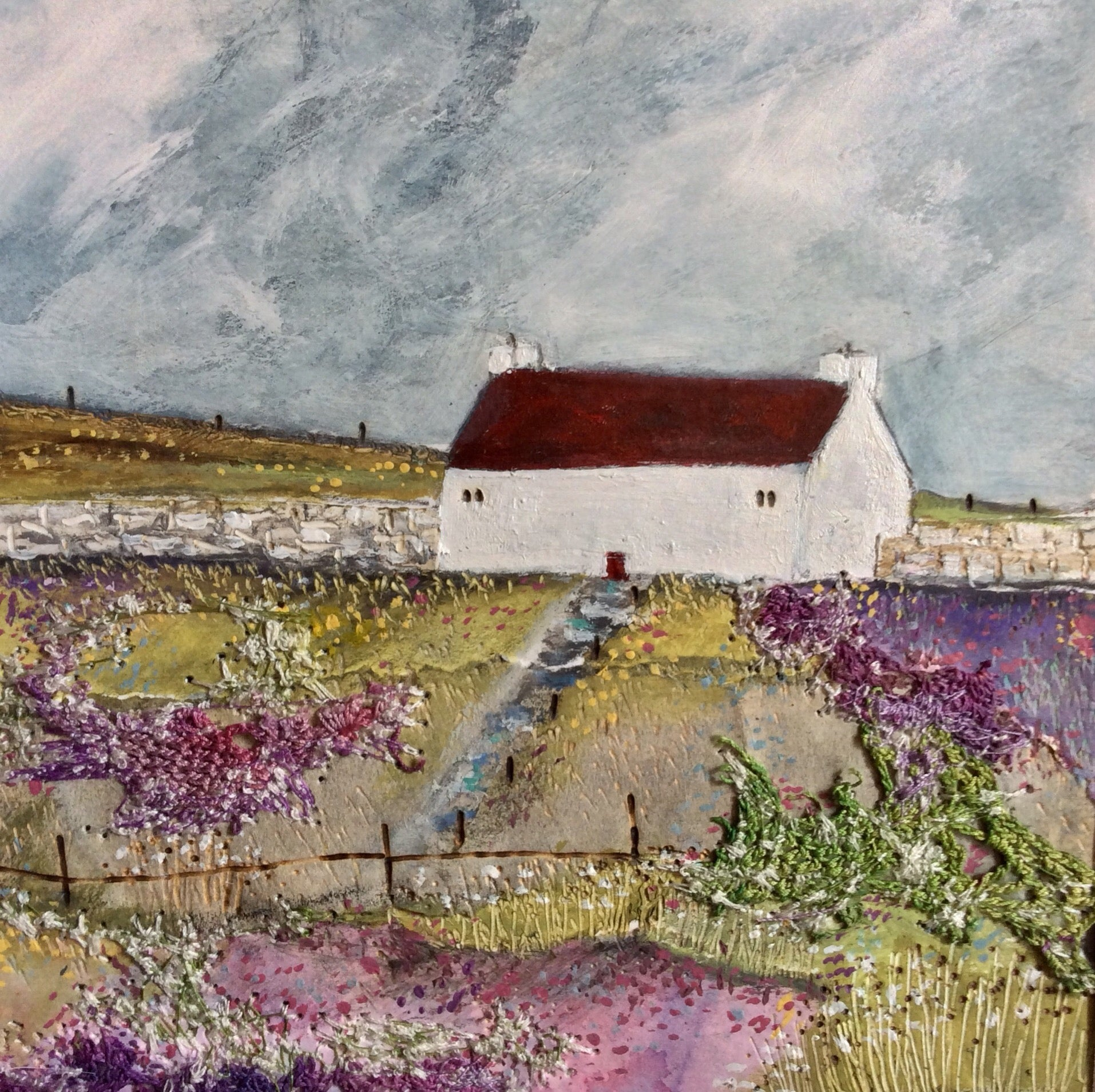 "Mixed Media Art By Louise O'Hara - ""A crop of Lavender"""