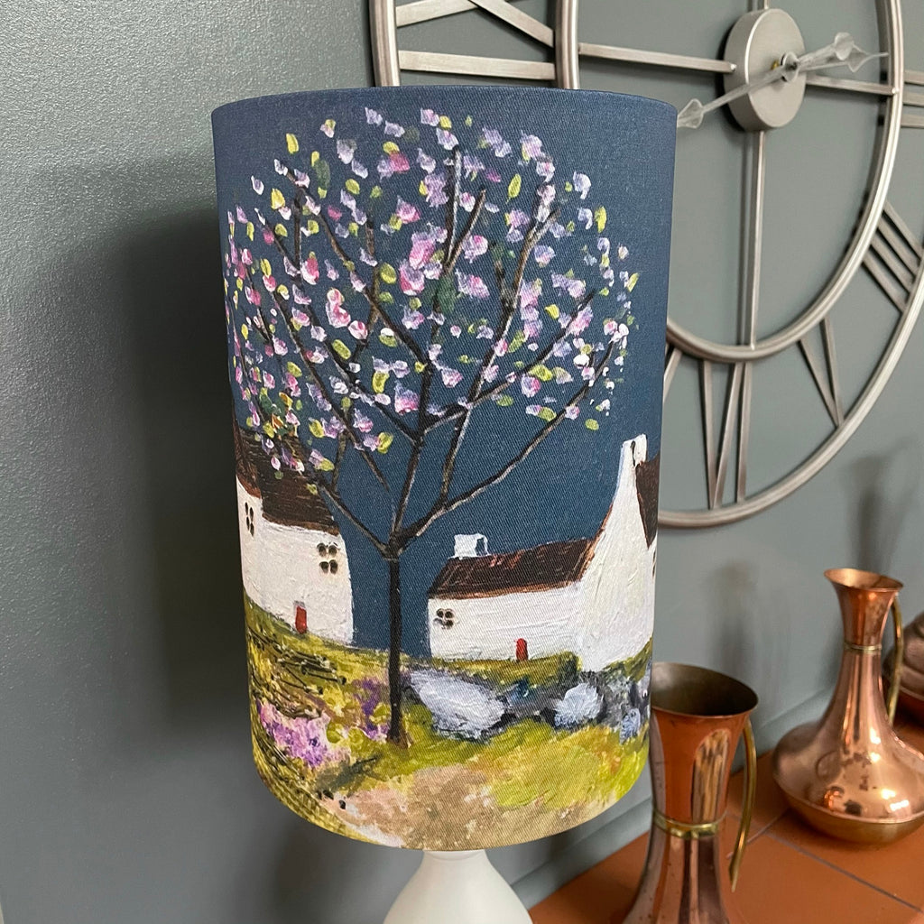 "Homeware - Lampshade  ""Along the road to the village"""