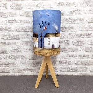"Homeware - Lampshade  ""Winter was always cold by the harbour"""
