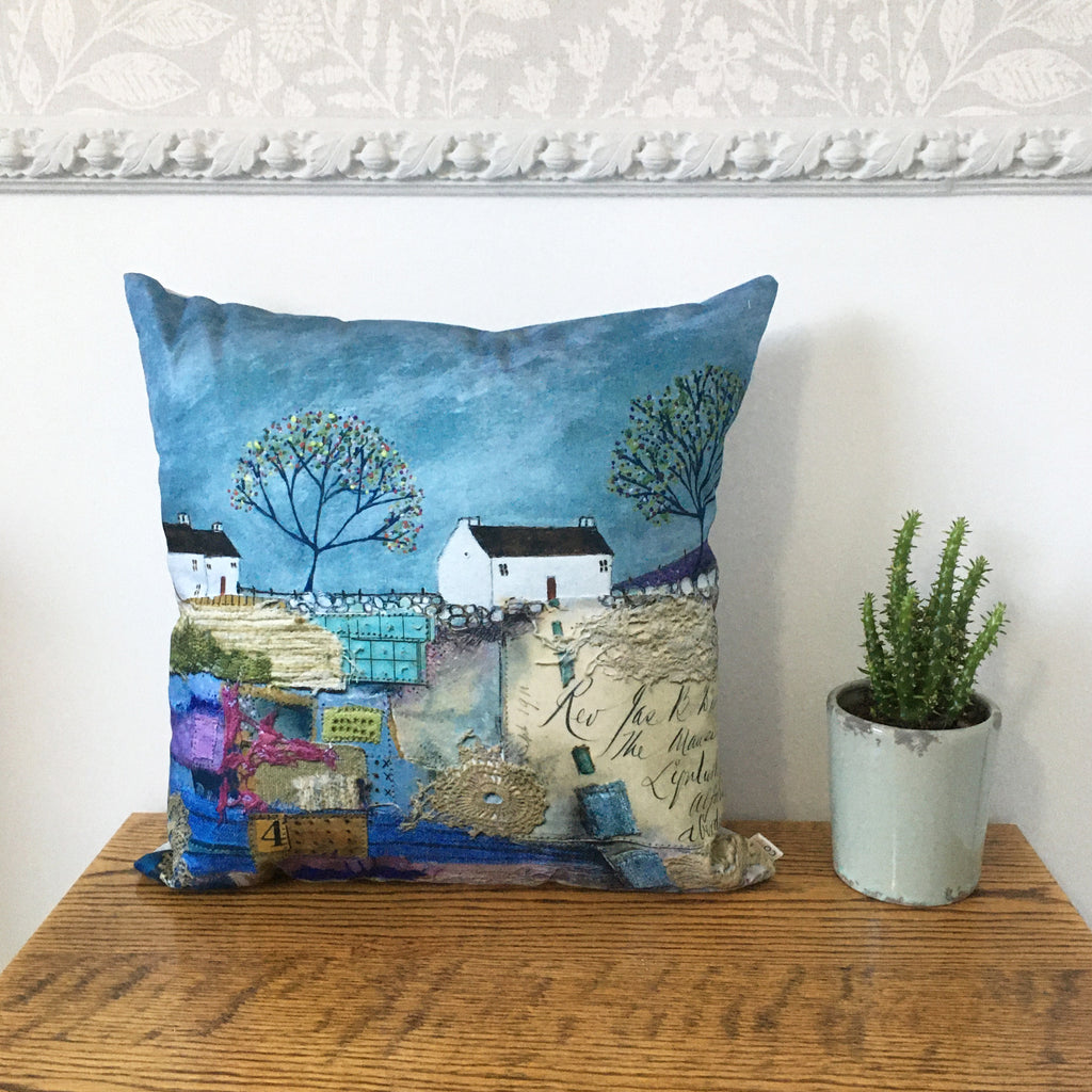 "Homeware - Hand made cushion ""Follow the path to the old Post Office"""