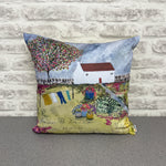 "Homeware - Hand made cushion ""Halfpenny Cottage"""
