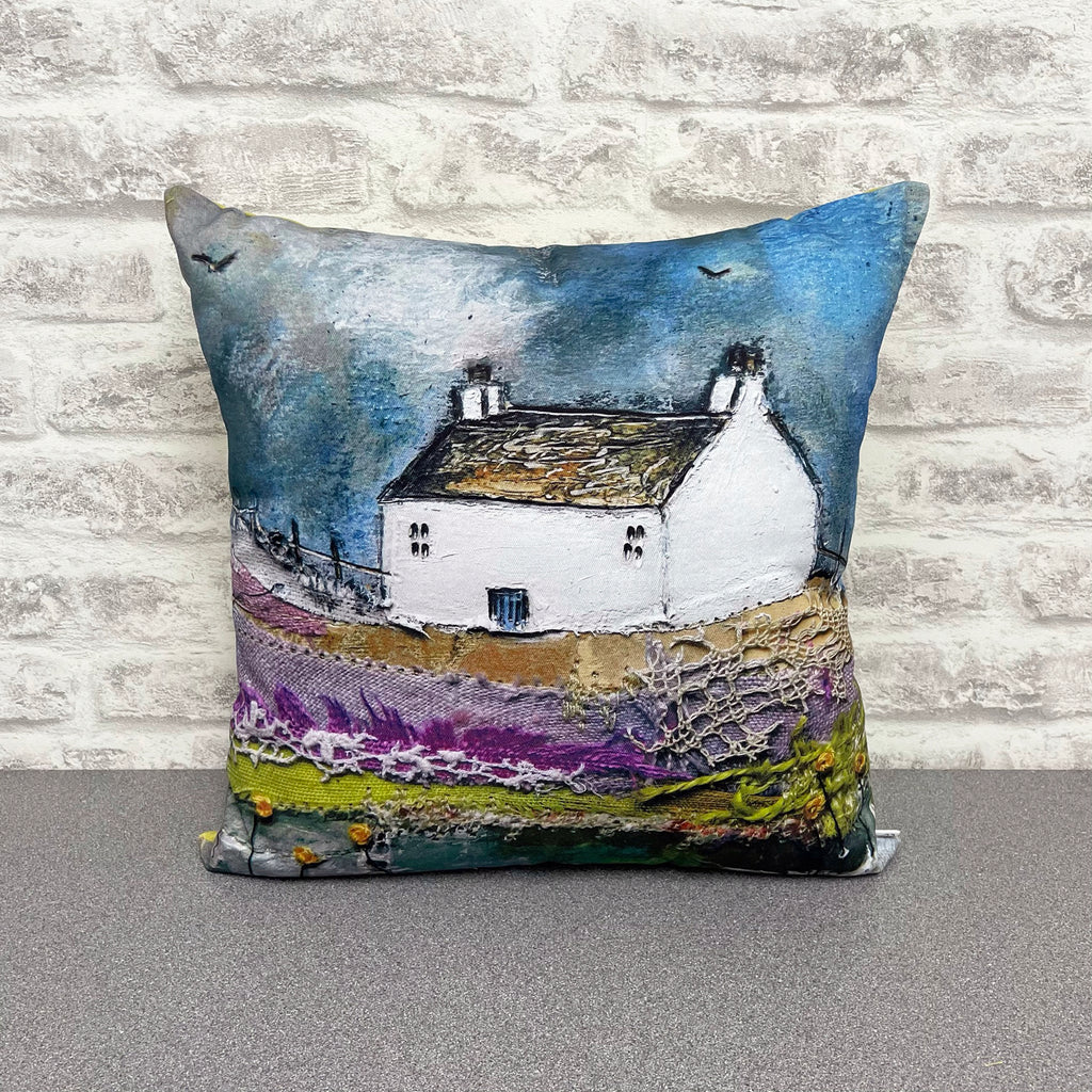 "Homeware - Hand made cushion ""Lavender Cottage"""