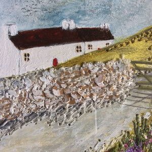 "Mixed Media Art work by Louise O'Hara ""Life on Lavender hill"""