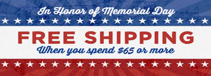 Free Shipping For Memorial Day Weekend