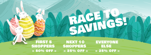 Be Quick As A Bunny & Save!
