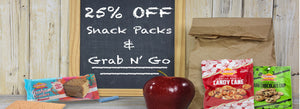 Lunch Box Snacks For 25% OFF!