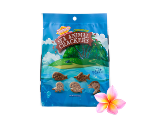 Hawaiian Sea Animal Crackers, Chocolate (0.8oz / Case of 100)