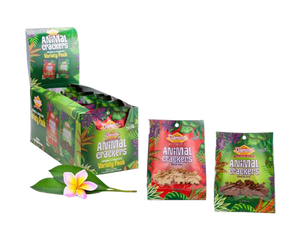 Hawaiian Jungle Animal Cracker Variety Pack 9/0.8oz bags (5 Original, 4 Chocolate Animal)