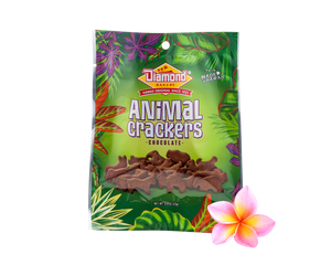 Hawaiian Jungle Animal Crackers, Chocolate (0.8oz / Case of 100)