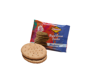 Hawaiian Crackers Grab N' Go Pack,  Blueberry Creems (0.66oz/Case of 24)
