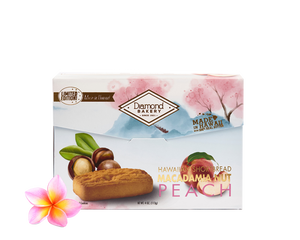 Hawaiian Macadamia Shortbread Cookies, Peach (4.0oz)