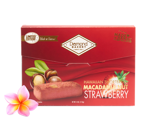 Premium Hawaiian Macadamia Shortbread Cookies, Strawberry (4.0oz)
