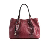 Red Snake Tote Bag for Women - trend-pony