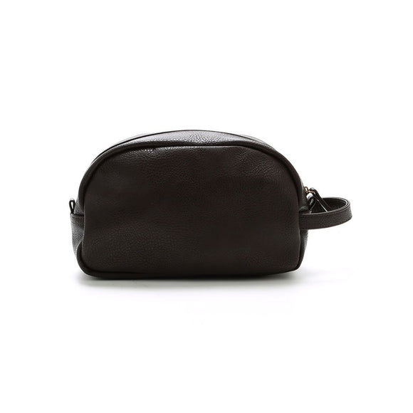 Brown Braden Vegan Leather Dopp Kit - trend-pony