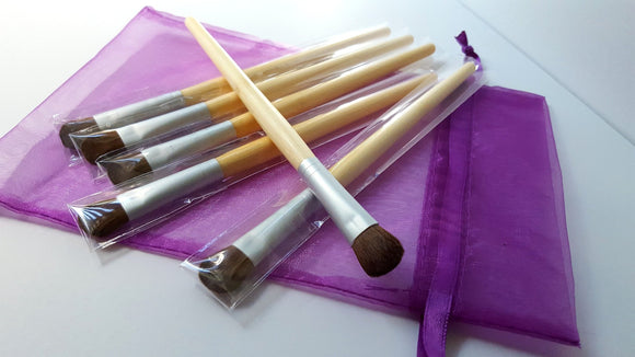 Vegan Eye Shadow and Concealer Brush Bamboo Handle - trend-pony