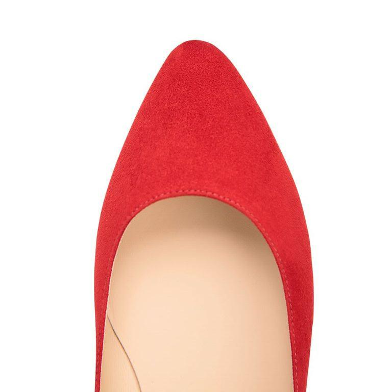 SIENA - Velukid Rosso, VIAJIYU - Women's Hand Made Sustainable Luxury Shoes. Made in Italy. Made to Order.