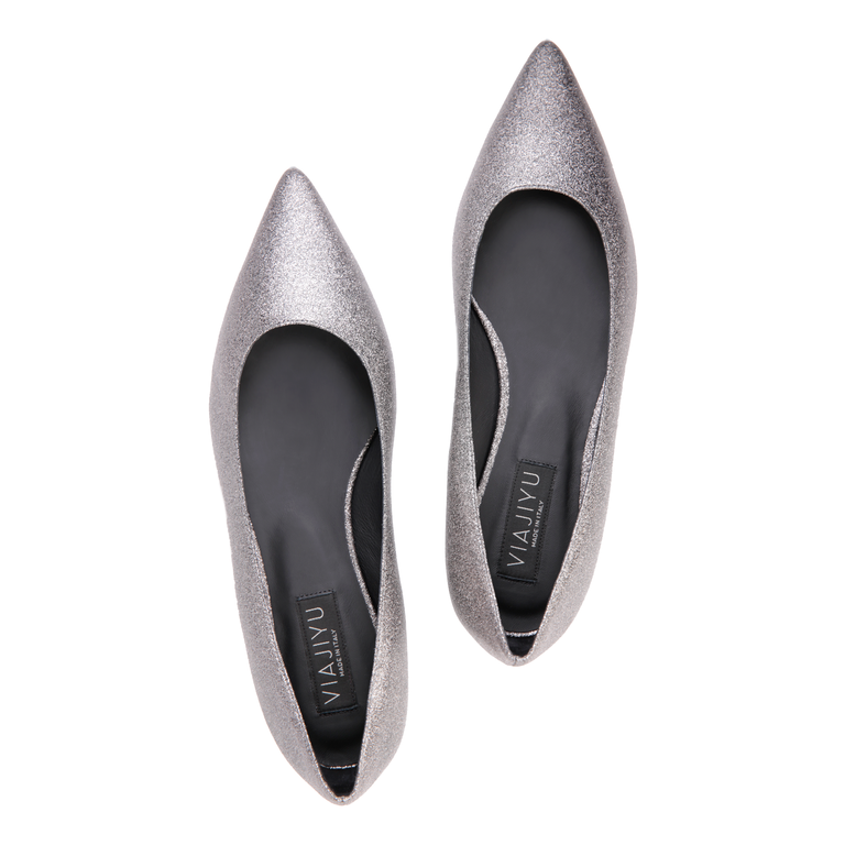 COMO - Bright Anthracite, VIAJIYU - Women's Hand Made Sustainable Luxury Shoes. Made in Italy. Made to Order.