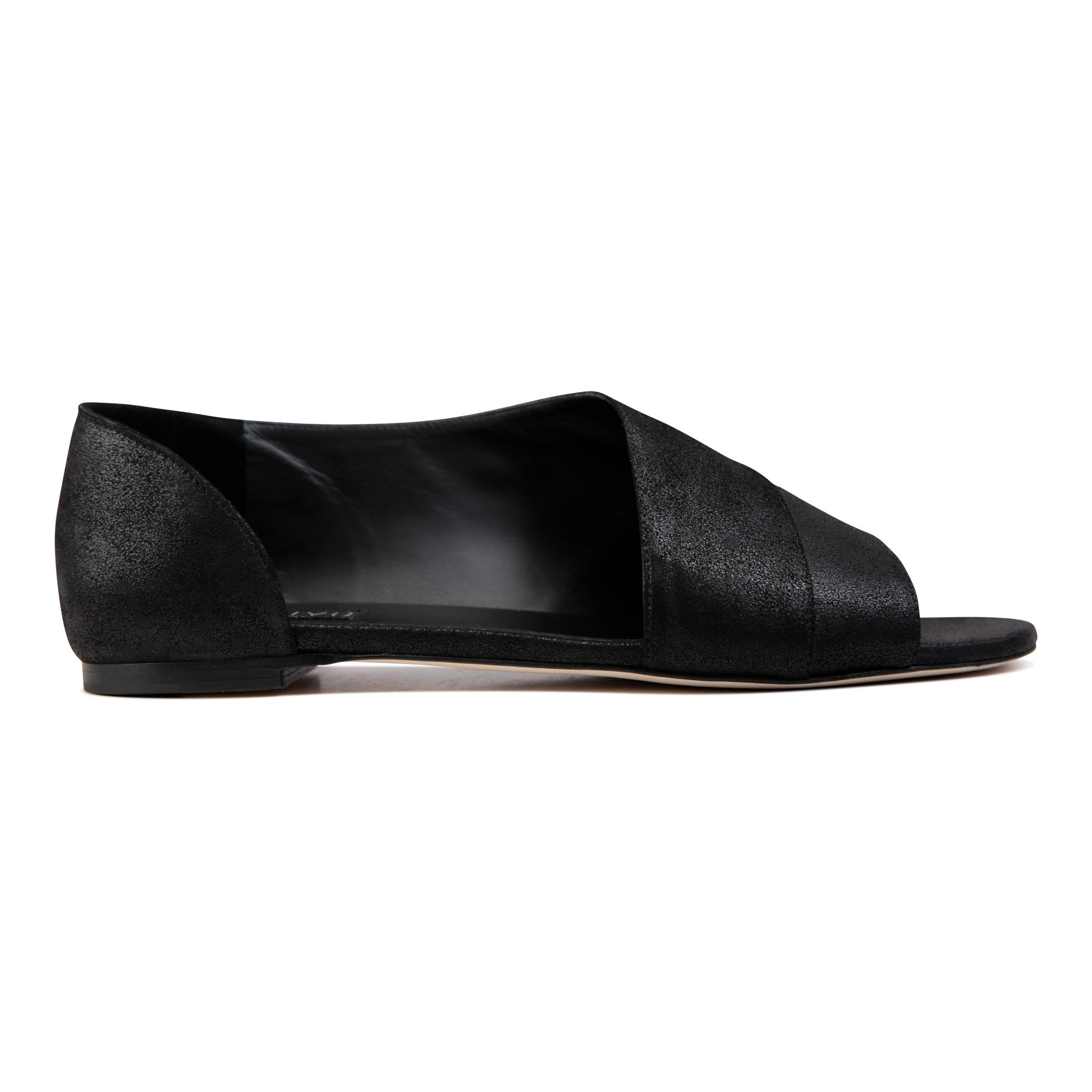 AMALFI - Burma Nero + Velukid, VIAJIYU - Women's Hand Made Sustainable Luxury Shoes. Made in Italy. Made to Order.