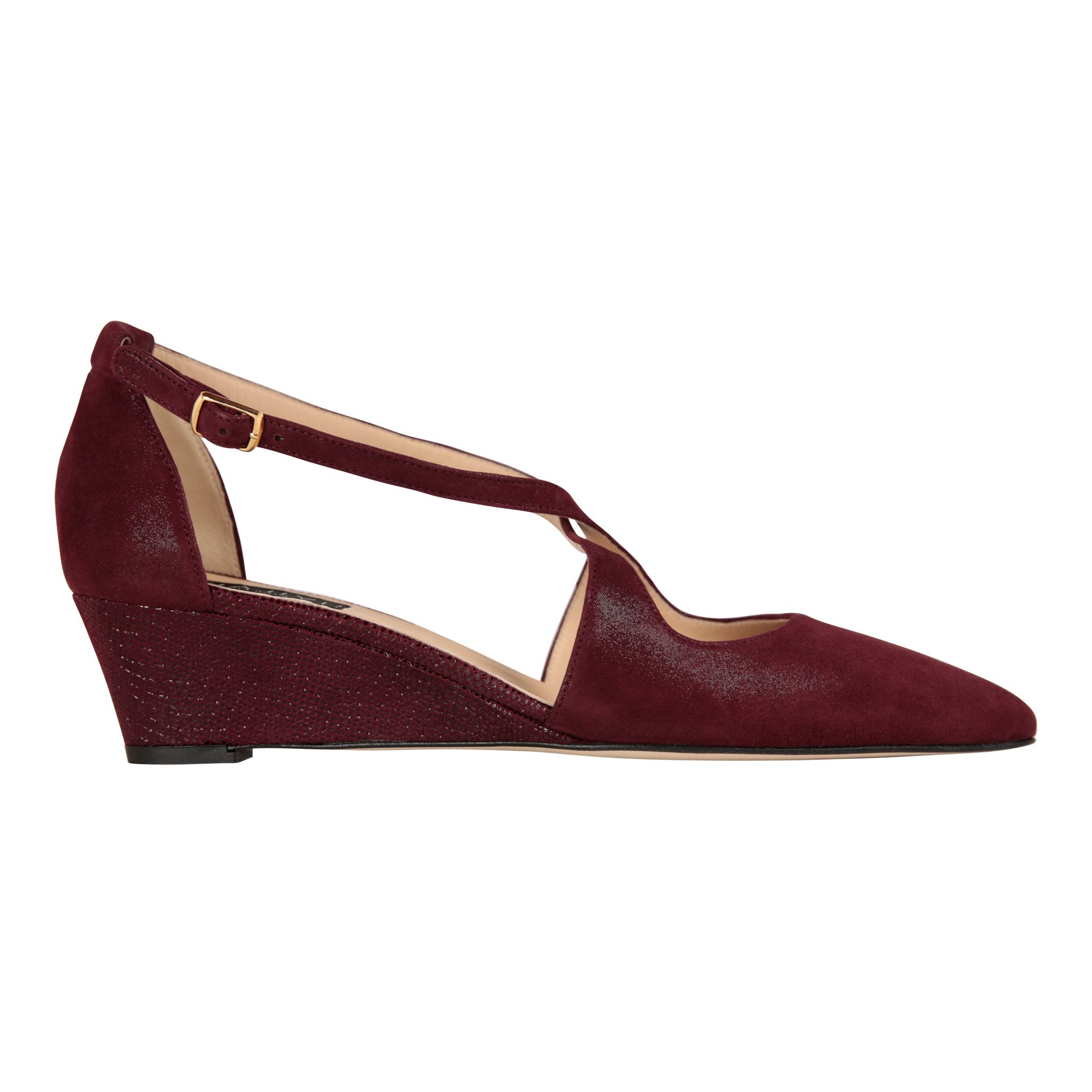 AREZZO - Hydra Garnet + Karung, VIAJIYU - Women's Hand Made Sustainable Luxury Shoes. Made in Italy. Made to Order.