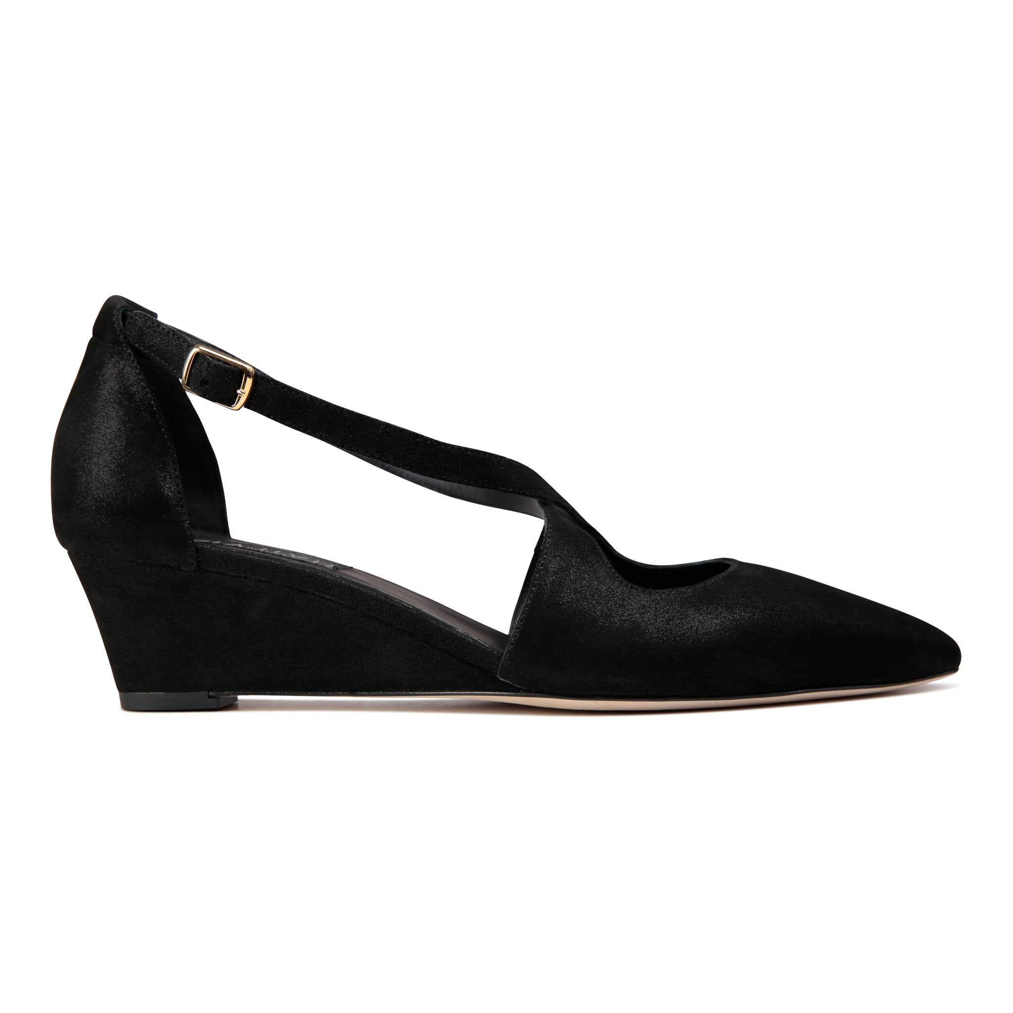 AREZZO - Hydra Nero, VIAJIYU - Women's Hand Made Sustainable Luxury Shoes. Made in Italy. Made to Order.