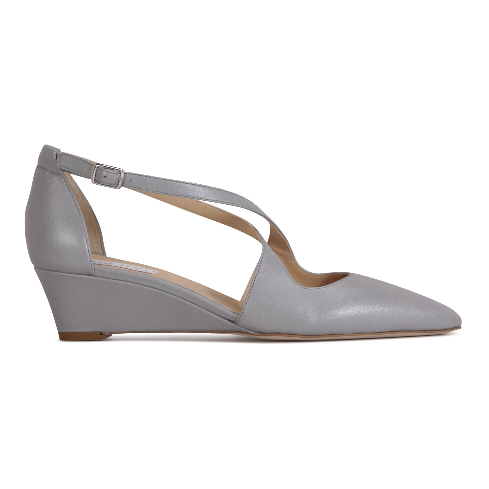 AREZZO - Nappa Pewter, VIAJIYU - Women's Hand Made Sustainable Luxury Shoes. Made in Italy. Made to Order.