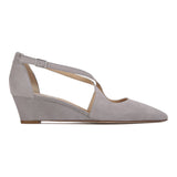 AREZZO - Velukid Grigio + Varanus, VIAJIYU - Women's Hand Made Sustainable Luxury Shoes. Made in Italy. Made to Order.