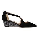 AREZZO - Velukid Nero + Glitter Notte, VIAJIYU - Women's Hand Made Sustainable Luxury Shoes. Made in Italy. Made to Order.