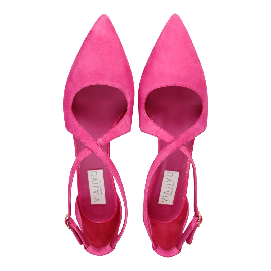 AREZZO - Velukid Epiphany Pink + Karung, VIAJIYU - Women's Hand Made Sustainable Luxury Shoes. Made in Italy. Made to Order.
