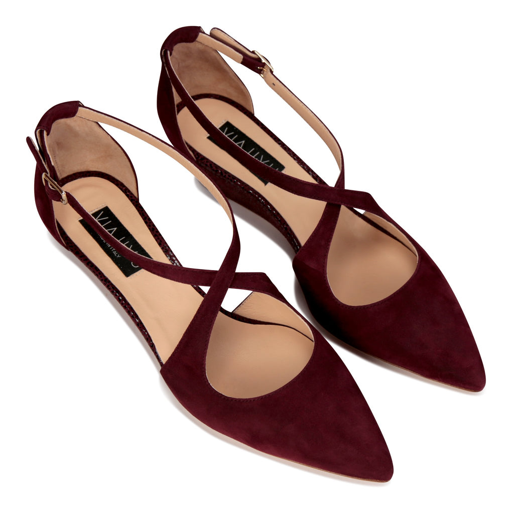 AREZZO - Velukid Garnet + Savannah, VIAJIYU - Women's Hand Made Sustainable Luxury Shoes. Made in Italy. Made to Order.