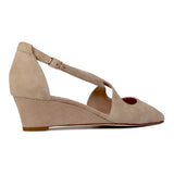 AREZZO - Velukid + Karung Tan, VIAJIYU - Women's Hand Made Sustainable Luxury Shoes. Made in Italy. Made to Order.