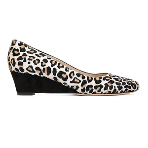 BERGAMO - Calf Hair Naby + Velukid Nero, VIAJIYU - Women's Hand Made Sustainable Luxury Shoes. Made in Italy. Made to Order.