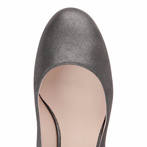 BERGAMO - Burma Anthracite, VIAJIYU - Women's Hand Made Sustainable Luxury Shoes. Made in Italy. Made to Order.