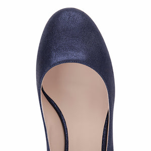 BERGAMO - Burma Midnight, VIAJIYU - Women's Hand Made Sustainable Luxury Shoes. Made in Italy. Made to Order.
