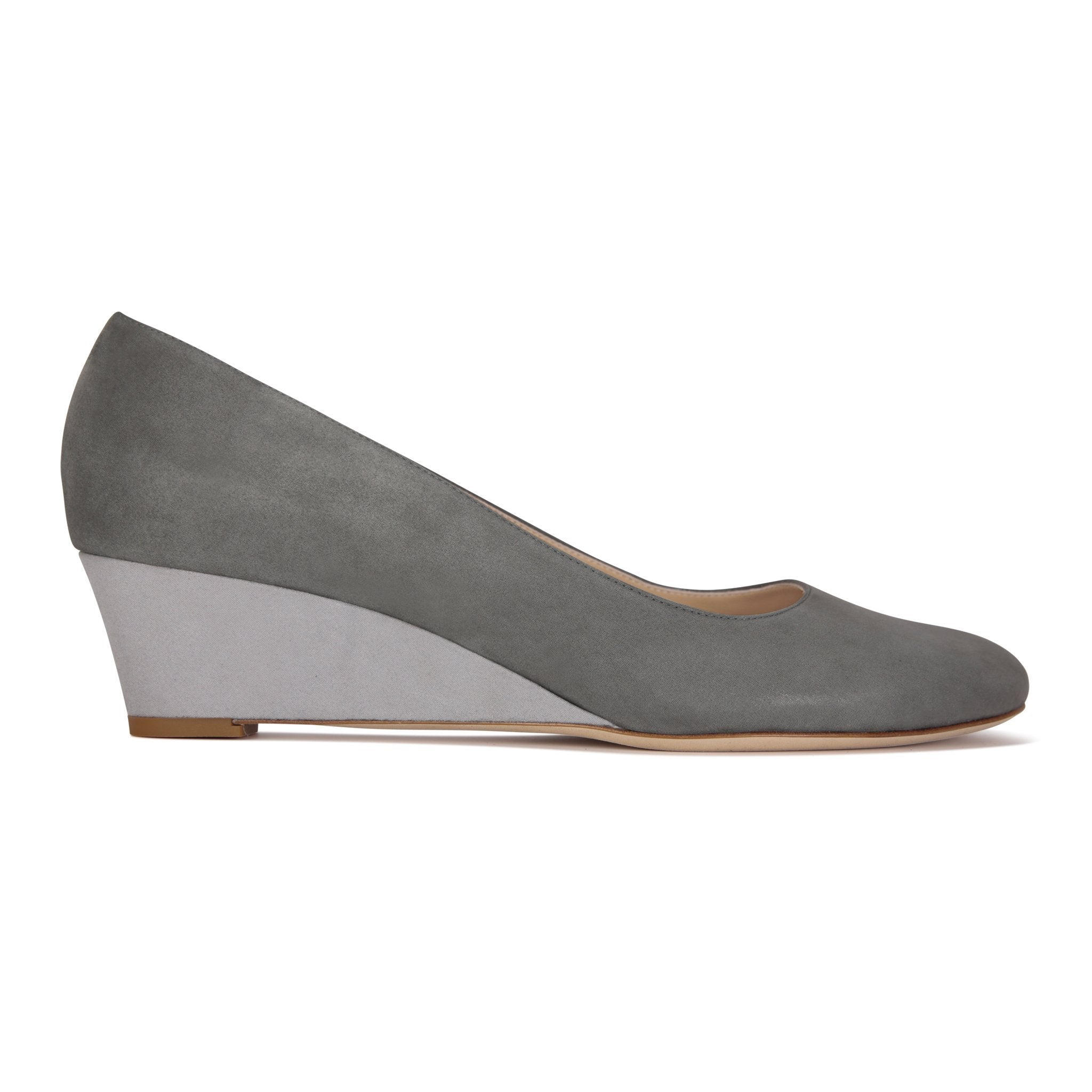 BERGAMO - Hydra Anthracite + Hydra Grigio, VIAJIYU - Women's Hand Made Sustainable Luxury Shoes. Made in Italy. Made to Order.