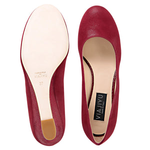 BERGAMO - Hydra Bordeaux + Karung, VIAJIYU - Women's Hand Made Sustainable Luxury Shoes. Made in Italy. Made to Order.