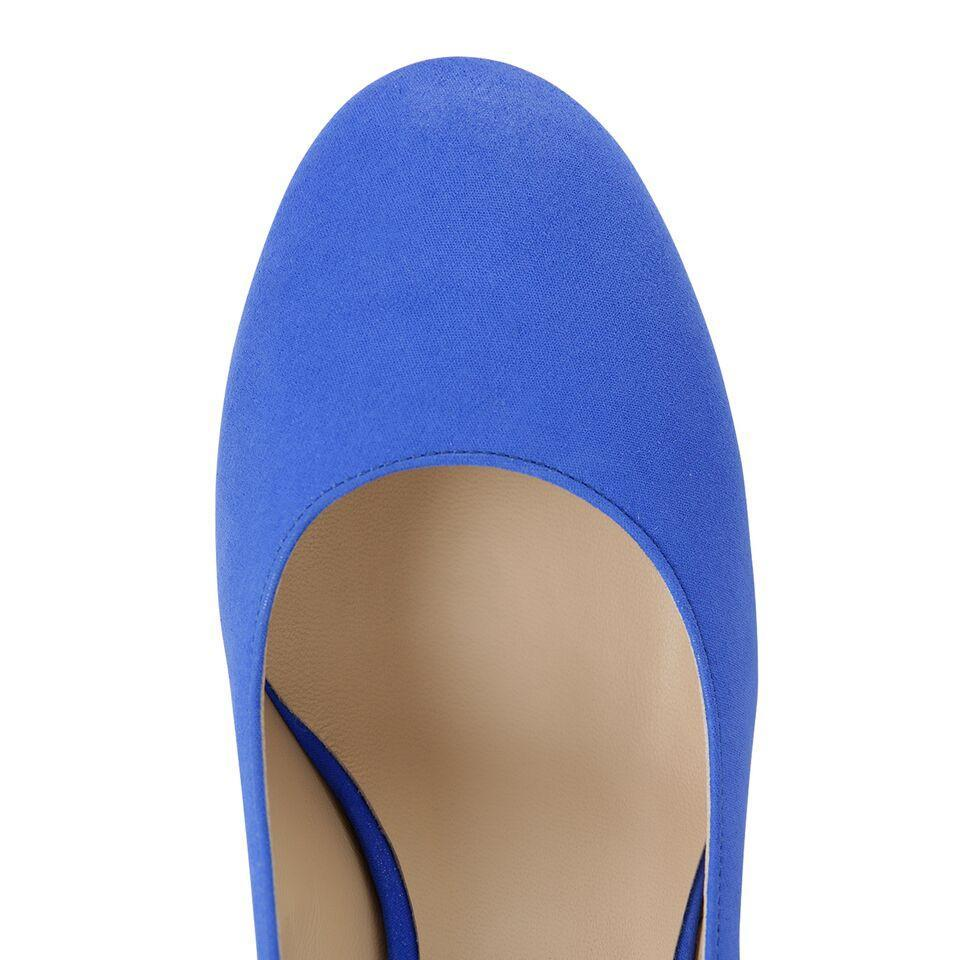 BERGAMO - Hydra Cobalt, VIAJIYU - Women's Hand Made Sustainable Luxury Shoes. Made in Italy. Made to Order.
