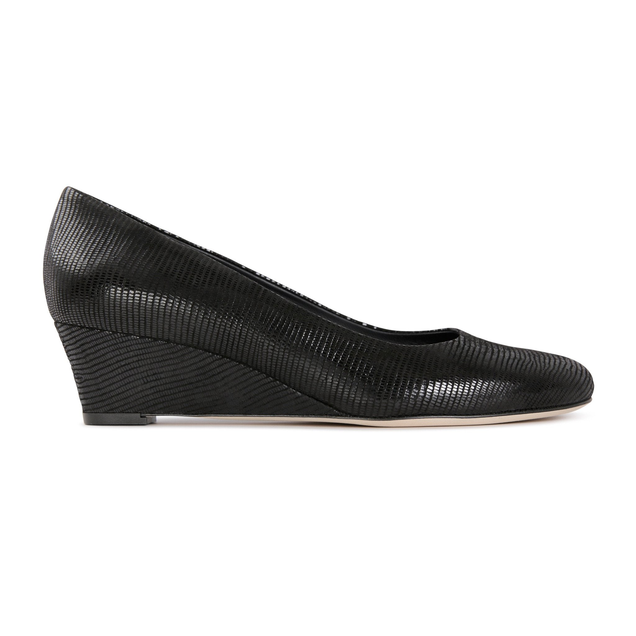 BERGAMO - Varanus Nero, VIAJIYU - Women's Hand Made Sustainable Luxury Shoes. Made in Italy. Made to Order.