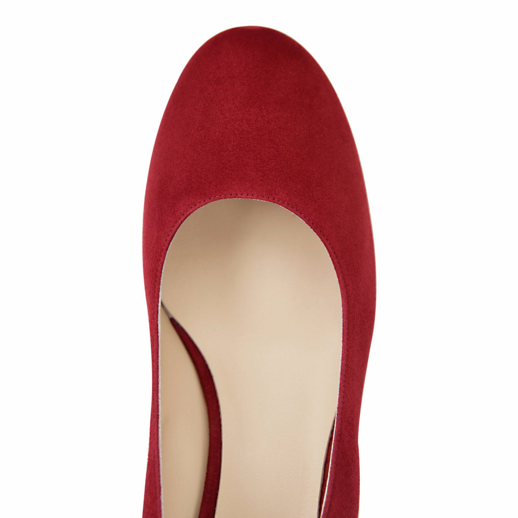 BERGAMO - Velukid Bordeaux, VIAJIYU - Women's Hand Made Sustainable Luxury Shoes. Made in Italy. Made to Order.