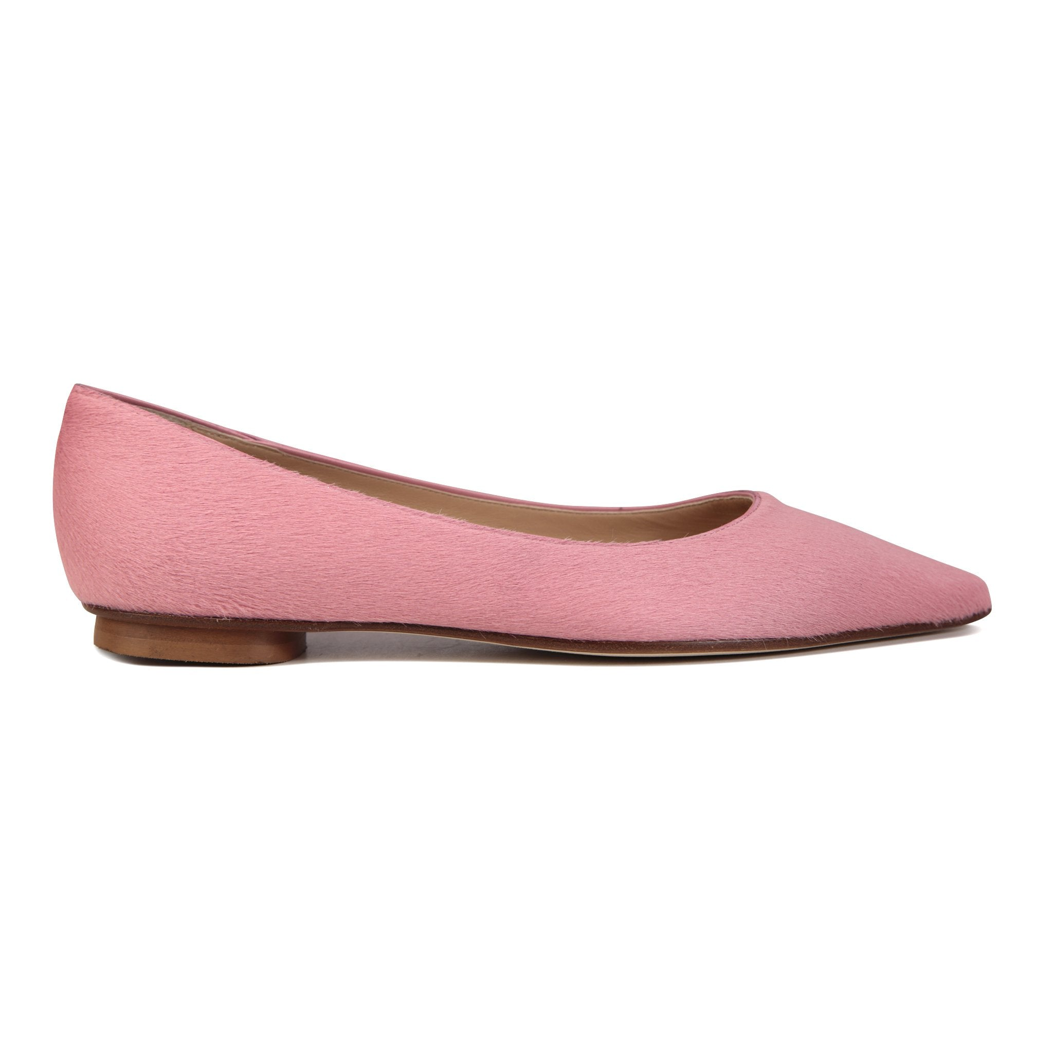 COMO - Calf Hair Candy Pink, VIAJIYU - Women's Hand Made Sustainable Luxury Shoes. Made in Italy. Made to Order.